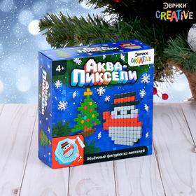 Аквамозаика «Снеговик и елка», 200 деталей