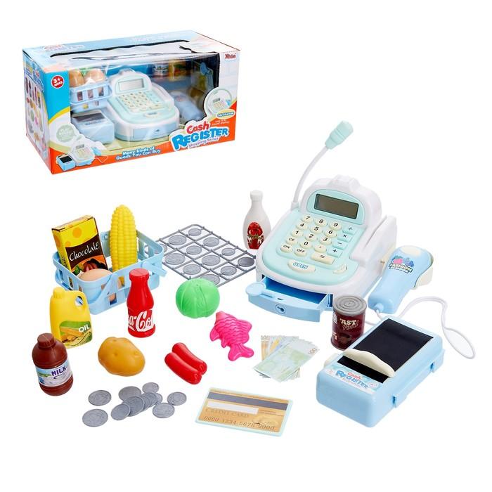 Игровой набор «Касса-калькулятор», со сканером и продуктовой лентой