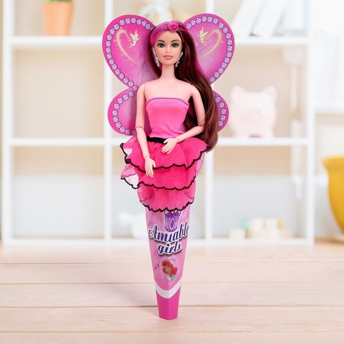 Кукла-модель шарнирная «Лера» в платье, фасовка 12 шт., МИКС