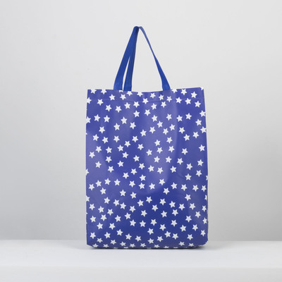 Bag host Star 30*10*37 the division without a zipper, blue