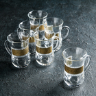 """Набор стаканов с ручкой для чая 140 мл """"Пирамида"""", 6 шт"""