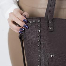 Сумка женская, отдел на молнии, 2 наружных кармана, длинный ремень, цвет коричневый - фото 50751