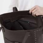 Сумка женская, отдел на молнии, 2 наружных кармана, длинный ремень, цвет коричневый - фото 50753