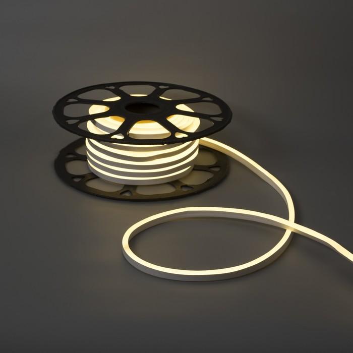 Гибкий неон, 8х16 мм, 13 м, LED/м-120-SMD2835-220V, БЕЛЫЙ 1431251