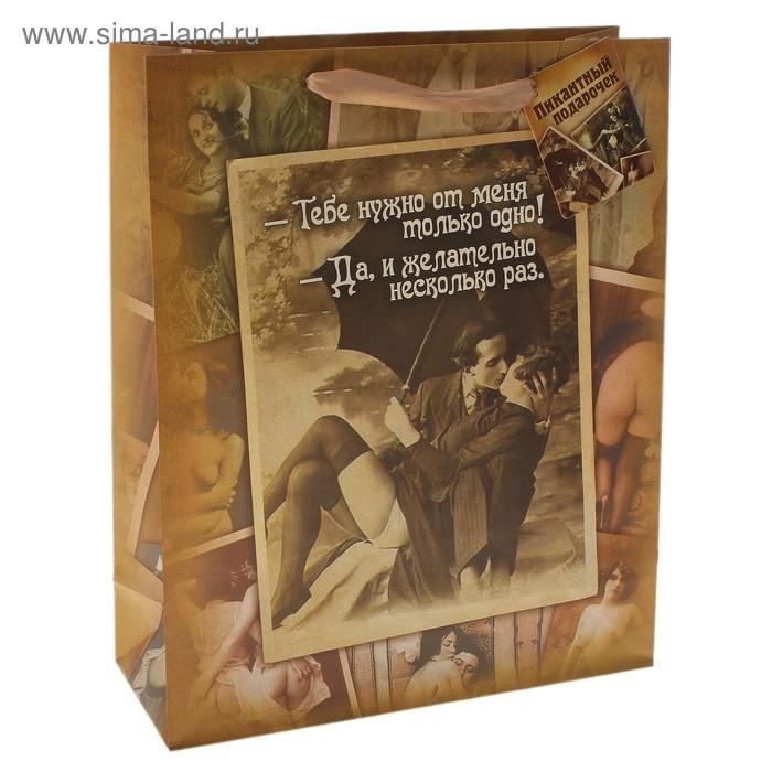 Пакет ламинат «Желательно несколько раз» интим, L 40 х 31 х 9 см