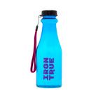 Бутылка спортивная IRONTRUE Черный-Голубой 550 мл