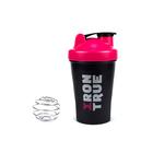 Шейкер IRONTRUE Розовый-Черный 400 мл