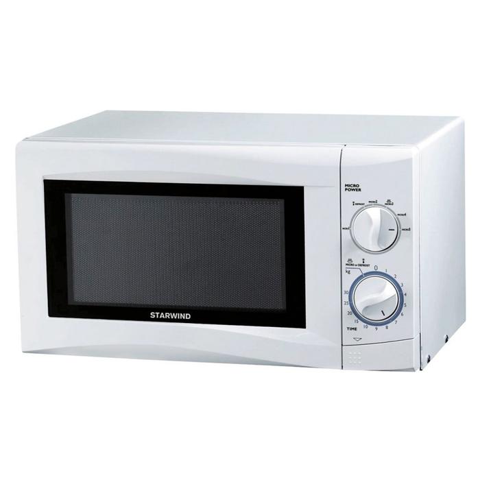 Микроволновая печь Starwind SMW3220, 700 Вт, 20 л, кнопка, белая