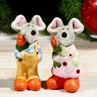 "Souvenir ceramic ""Fancy mouse/rat with a flower"" MIX 7,2х3х2,8 cm"