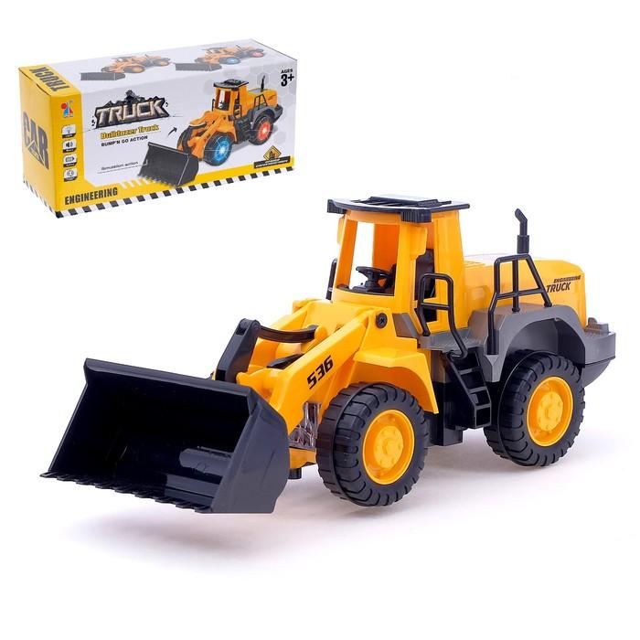 Трактор «Погрузчик», работает от батареек, световые и звуковые эффекты