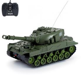 Танк радиоуправляемый «Атака», работает от аккумулятора, световые и звуковые эффекты, цвета МИКС