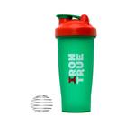 Шейкер IRONTRUE Зеленый-Красный 600 мл