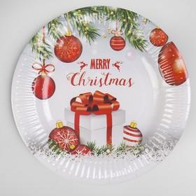 Тарелка бумажная «С Новым Годом», набор 6 шт.