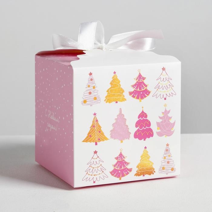 Коробка складная «Чудеса», 12 × 12 × 12 см - фото 282123202