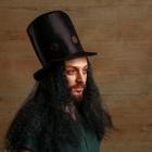 Карнавальная шляпа «Колдун», с волосами