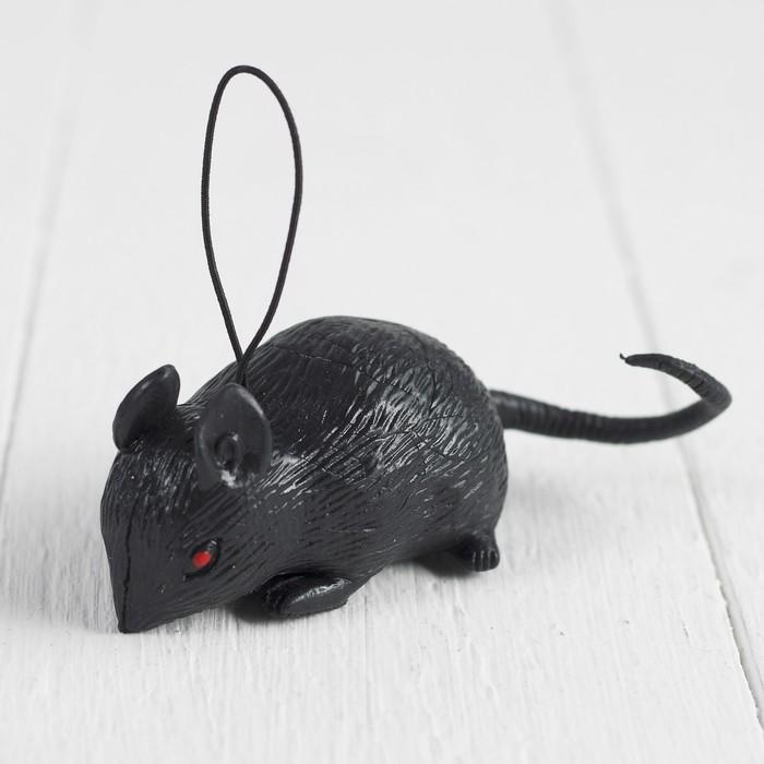 """Прикол резиновая """"Мышь"""", цвет чёрный"""