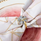 """Набор """"Grey flower"""" салфетка 40х40 см, кольцо 3х4,2 см"""