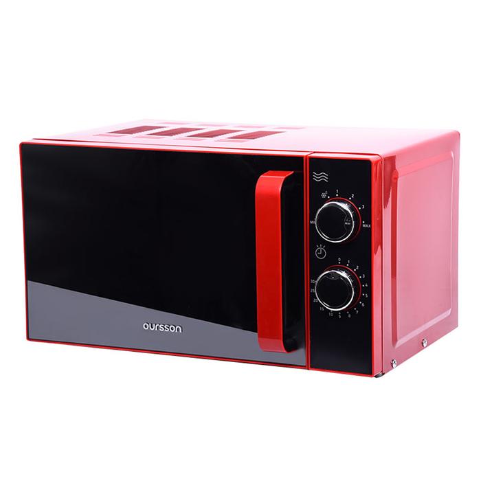 Микроволновая печь Oursson MM2005/RD, 1200 Вт, 20 л, таймер, чёрно-красная
