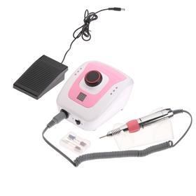 Машинка для маникюра и педикюра JessNail DM206, 30 Вт, 35000 об/мин, бело-розовая