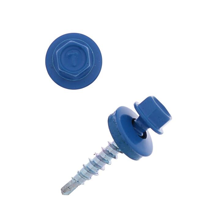 Саморезы кровельные 4.8х29 RAL5005, синий, 250 шт.