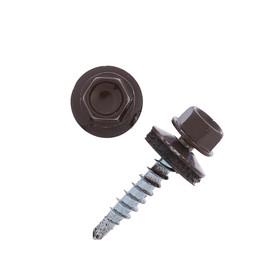 Саморезы кровельные 4.8х29 RAL8017, темно-коричневый, 250 шт.