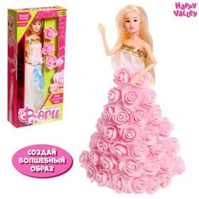 Кукла-модель «Цветочная принцесса Флори» с цветами и блёстками