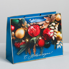 Пакет ламинированный горизонтальный «Ёлочные игрушки», ML 27 × 23 × 8 см