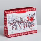 Пакет ламинированный горизонтальный «Новогодняя повозка», MS 23 × 18 × 8 см