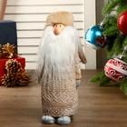 """Сувенир полистоун """"Дед Мороз в вязаном кафтане и кожаном колпаке"""" 32х8,5х9,5 см"""