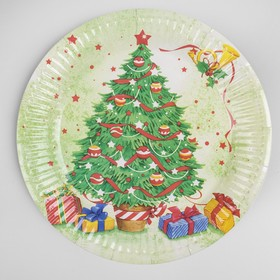 Тарелка бумажная «Новогодняя ёлочка», набор 6 шт.