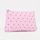 Cosmetic bag simple Crown, 18 x 1.5*10cm, division zipper, pink