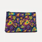 Cosmetic bag simple Heart 18*1,5*10cm, division zipper, black