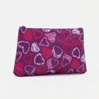 Cosmetic bag simple Heart 18*1,5*10cm, Department zip, purple