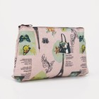 The cosmetic bag is a simple City, 18*1,5*10cm, division zipper, brown