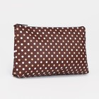 Cosmetic bag simple Peas, 18*1,5*10cm, division zipper, brown