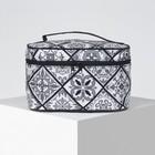 Beautician-a chest Ornament, 19*11*11,5 cm Department zipper with mirror, black