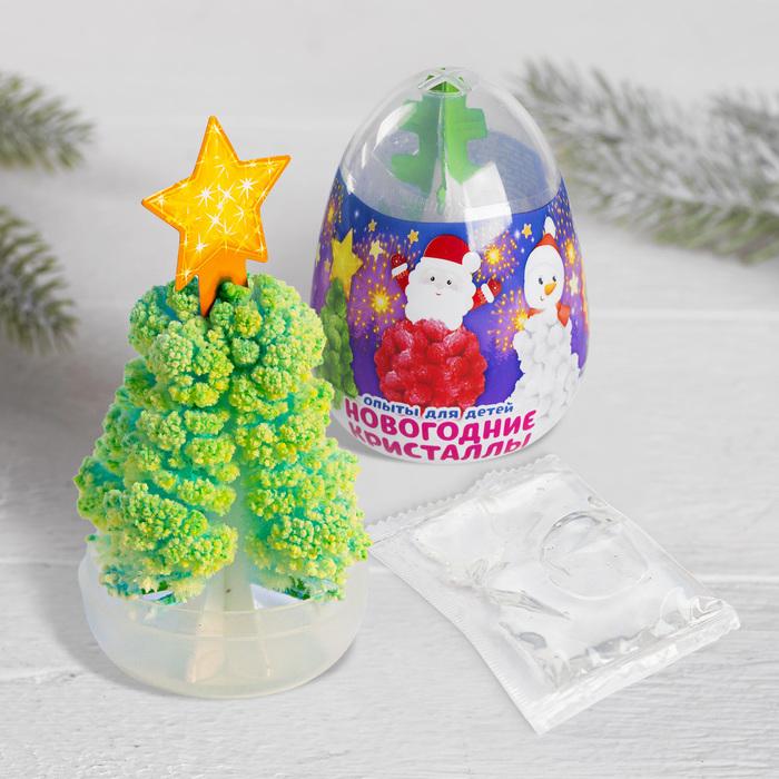 Набор для опытов «Новогодние кристаллы», цвета МИКС