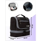 Cosmetic bag 2 section Cruise, 24*13*21cm, 2 otd zip hook, black