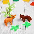 """Растущие животные набор """"Джунгли"""" (2 больших животных, 1 маленькое, 2 листика, пальма) МИКС   432894"""