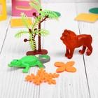 """Растущие животные набор """"Животные саванны"""" (2 животных, 2 листика, пальма) МИКС"""
