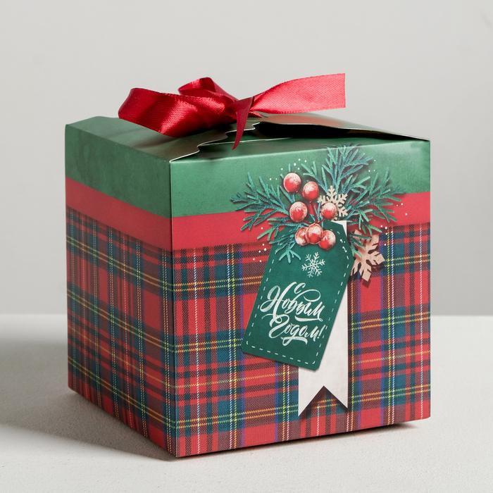 Коробки складные «С Новым Годом!», 12 х 12 х 12 см - фото 282123206