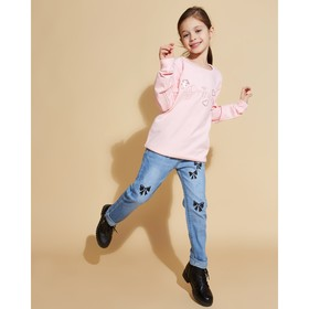 """Джинсы для девочки MINAKU """"Бантики"""", рост 92-98 см, цвет голубой"""