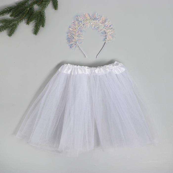 "Carnival set ""snowflake"" skirt+headband"