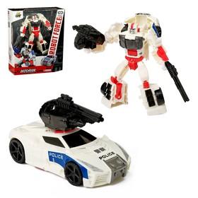 Робот-трансформер «Полицейский», с элементами из металла