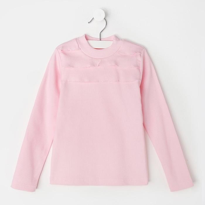 Водолазка Рюша, розовый, рост 86-92