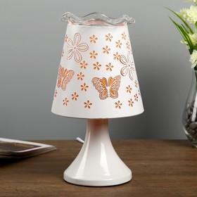 "Аромасветильник с выключателем ""Амбрелла"" 1хE27 40Вт белый-оранжевый 13х13х24,5 см."