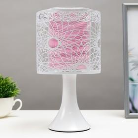 "Аромасветильник с выключателем ""Леандр"" 1хG4 20Вт белый-розовый 15х15х27 см."