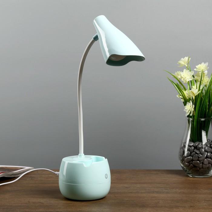 "Лампа настольная ""Терсит"" АКБ USB 5Вт голубой 22х9х35 см."