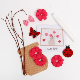 "A set of creative eco decor ""Vase with pink flowers"" glue 15 ml"