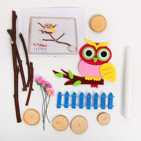 "A set of creative eco decor ""Owl on branch"" glue 15 ml"